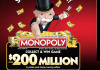 Monopoly Game At Safeway: Shop & Get a Chance to Win $200 Million